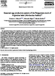 Icon of Macchi Et Al (2004) Egg Production Argentine Hake (M Hubbsi)