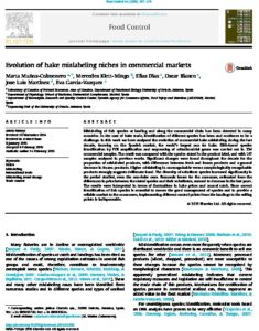 Icon of Muños Colmenero Et Al (2015) Evolution Of Hake Mislabeling Niches In Commercial Markets