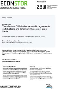 Icon of Mundt (2012) The Effects Of EU FPA On Fish Stocks And Fisheremen Cape Verde