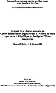 Icon of Commission Scientifique Conjointe CSC-1 UE-SEN 2016 Rapport Final