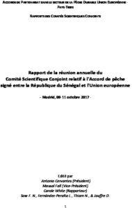 Icon of Commission Scientifique Conjointe CSC-2 UE-SEN 2017 Rapport Final