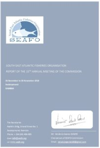 Icon of SEAFO Commission Report 2018