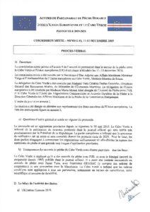 Icon of 2019 JCM CV PROCESSO VERBAL COMISSÃO MISTA UE-CV 11-12 DEZ 19 VF Envoye Par Le CB