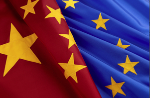 China EU flags